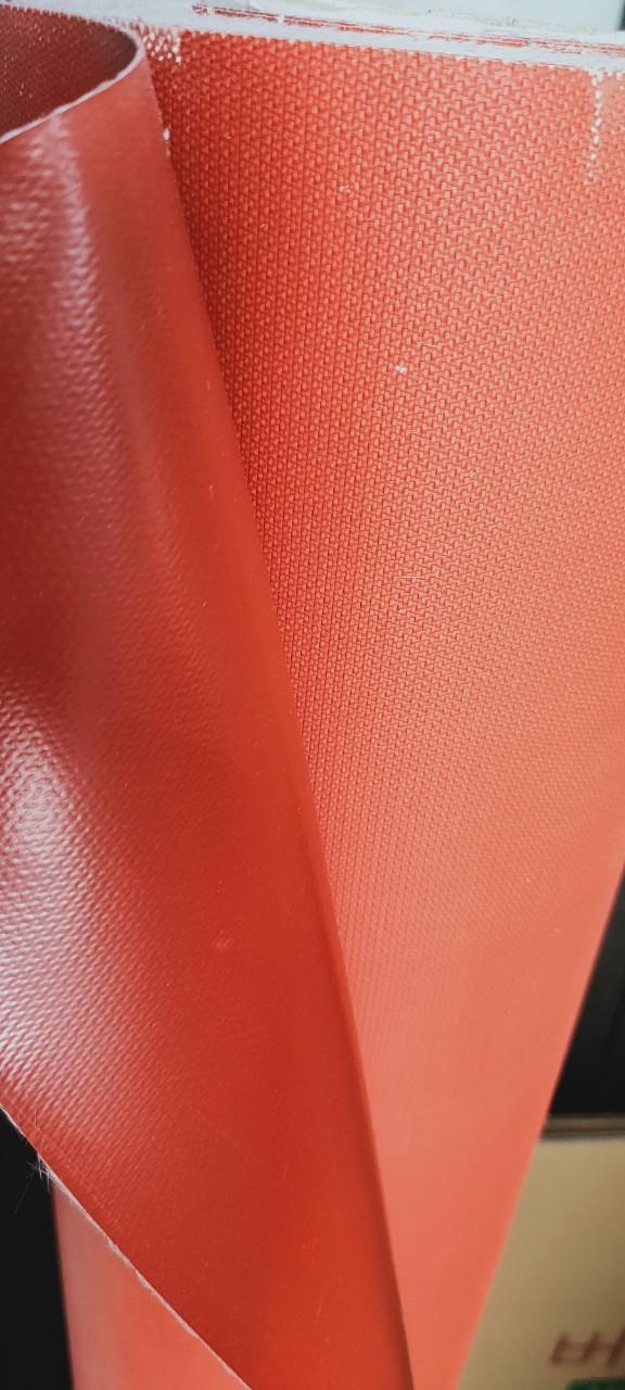 vải tráng silicon đỏ