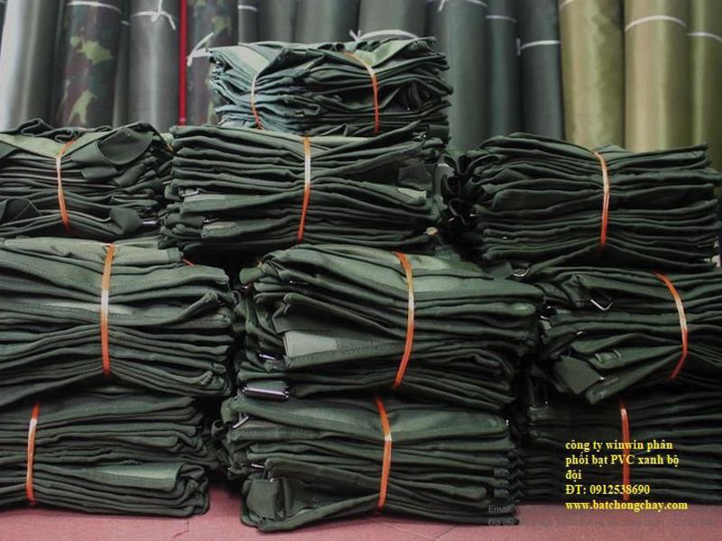 Vải Tráng Nhựa PVC Quân Đội